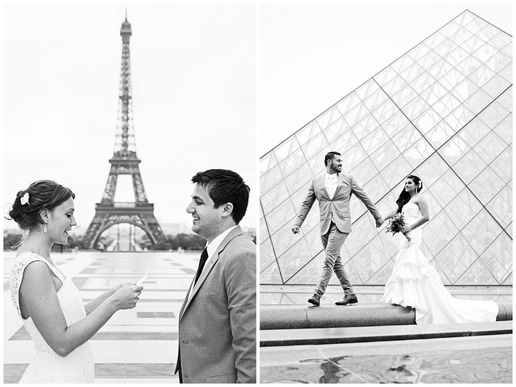 Elopement in Paris, France getting married in the City of Love