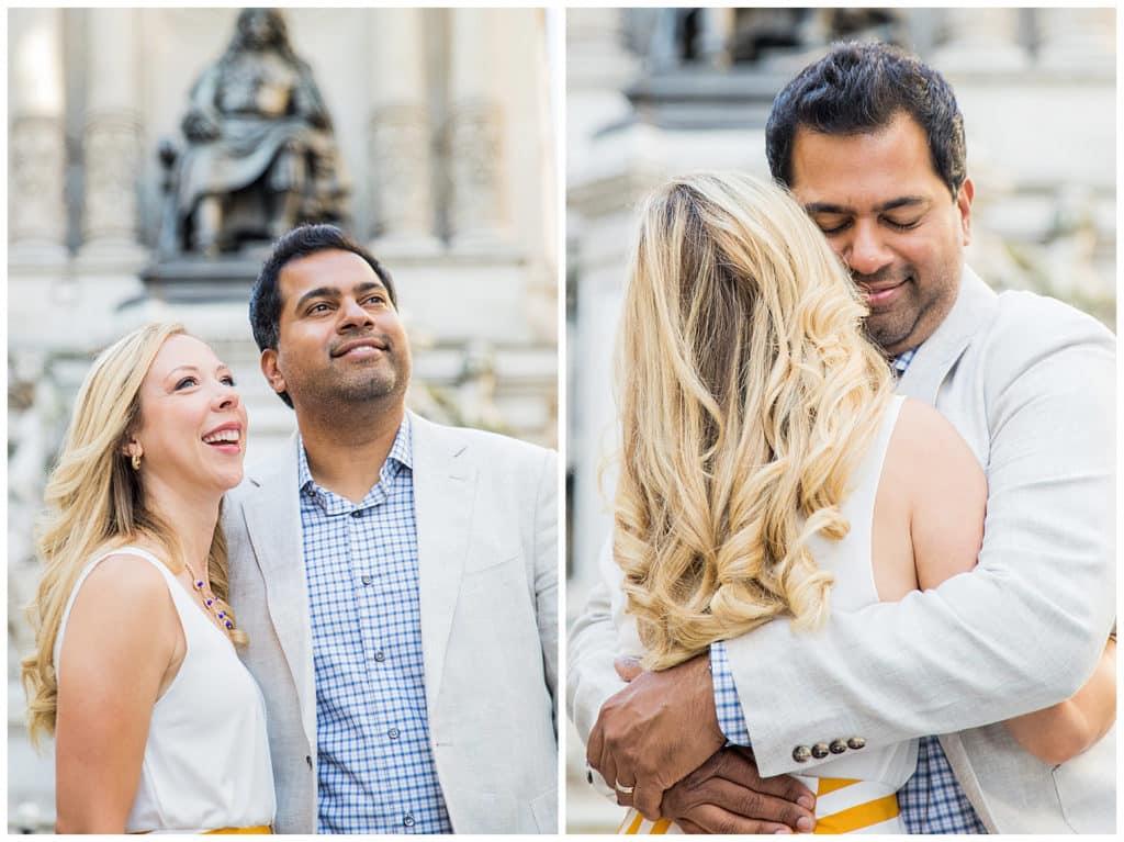 An anniversary photo session in Paris, between Palais Royal and Ile Saint-Louis