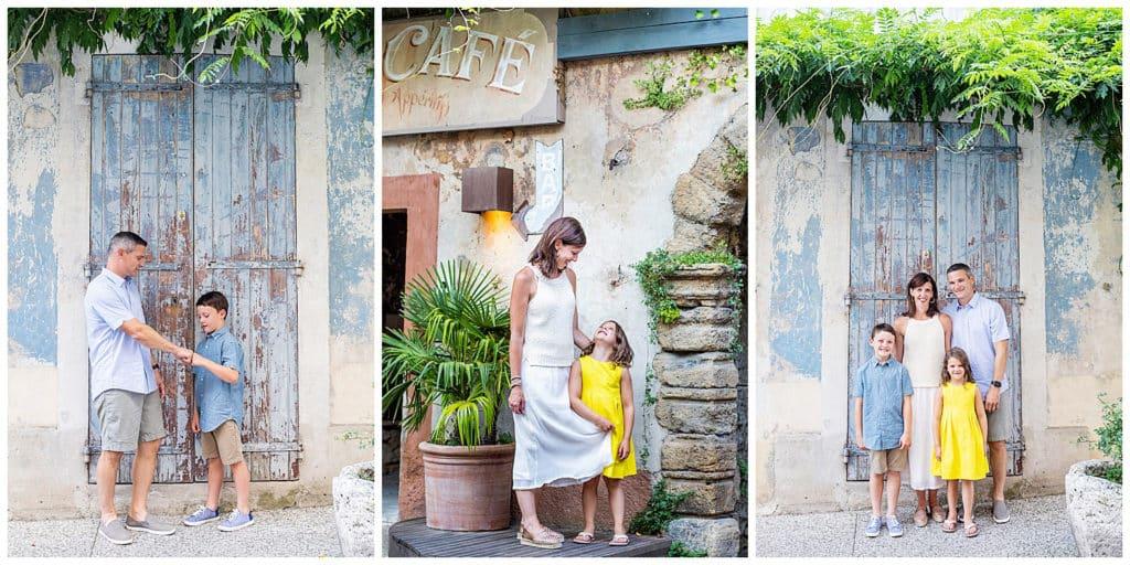 Une séance photo de famille à Bonnieux et Lourmarin, Luberon, Provence