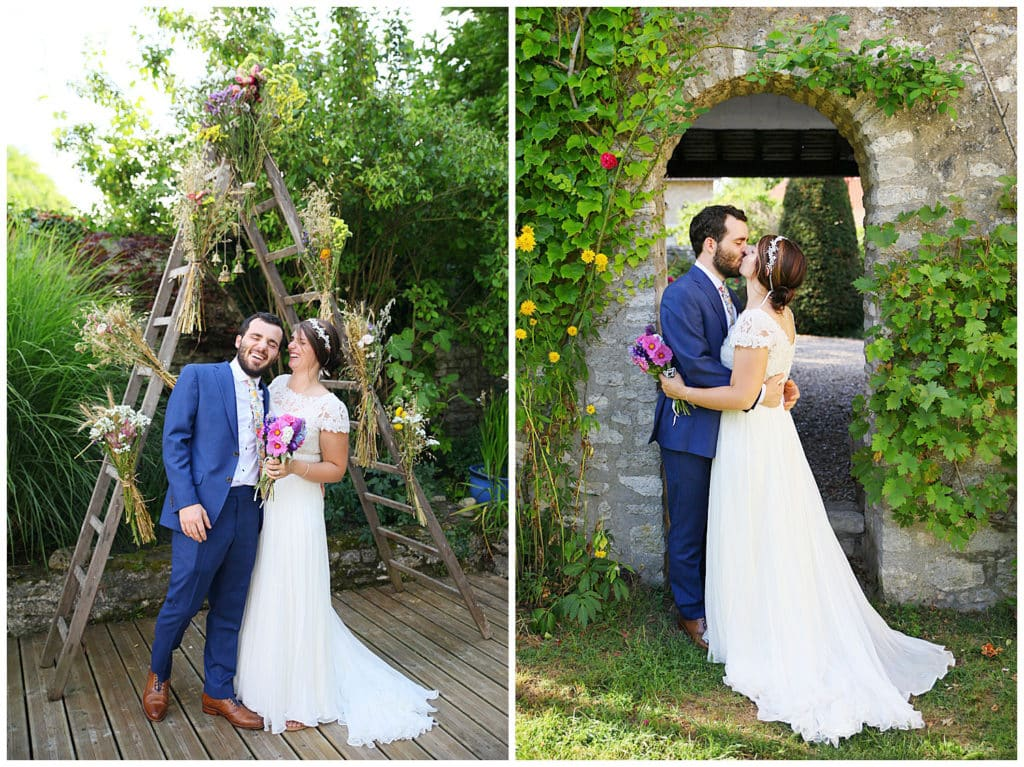 An intimate British-American destination wedding in a French village near Paris