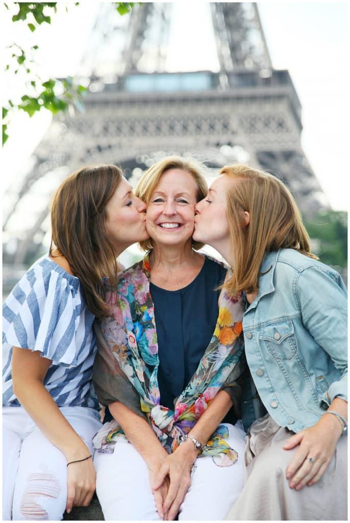 A fun mother & daughter photo session by the Eiffel Tower and Notre Dame in Paris, France