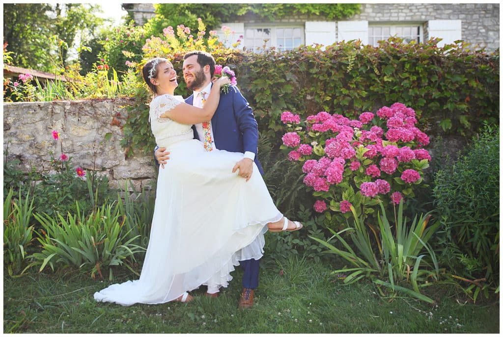 An intimate British-American destination wedding in a village near Paris, France