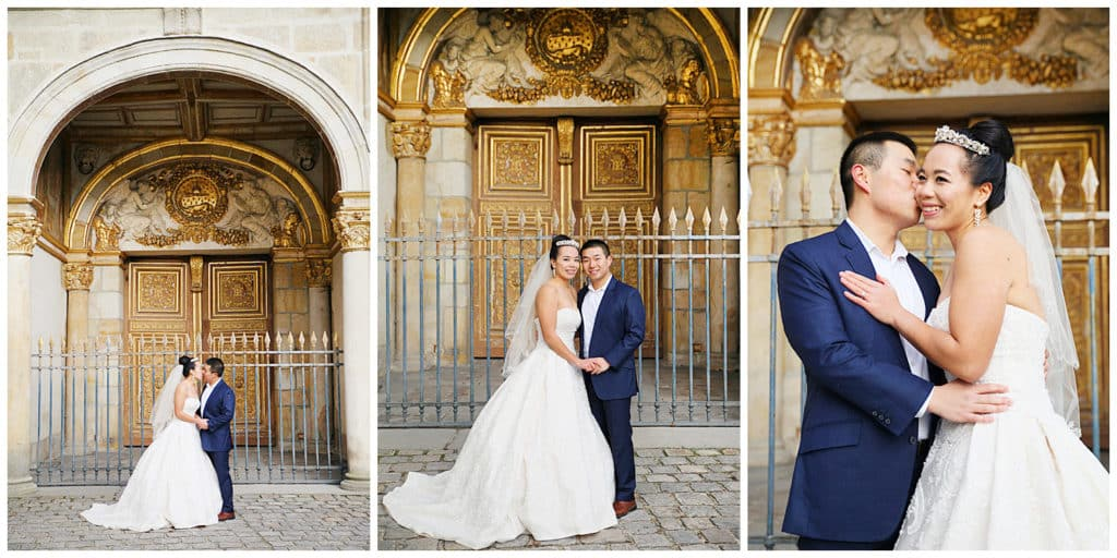A pre-wedding photo session at the Chateau de Fontainebleau near Paris, France