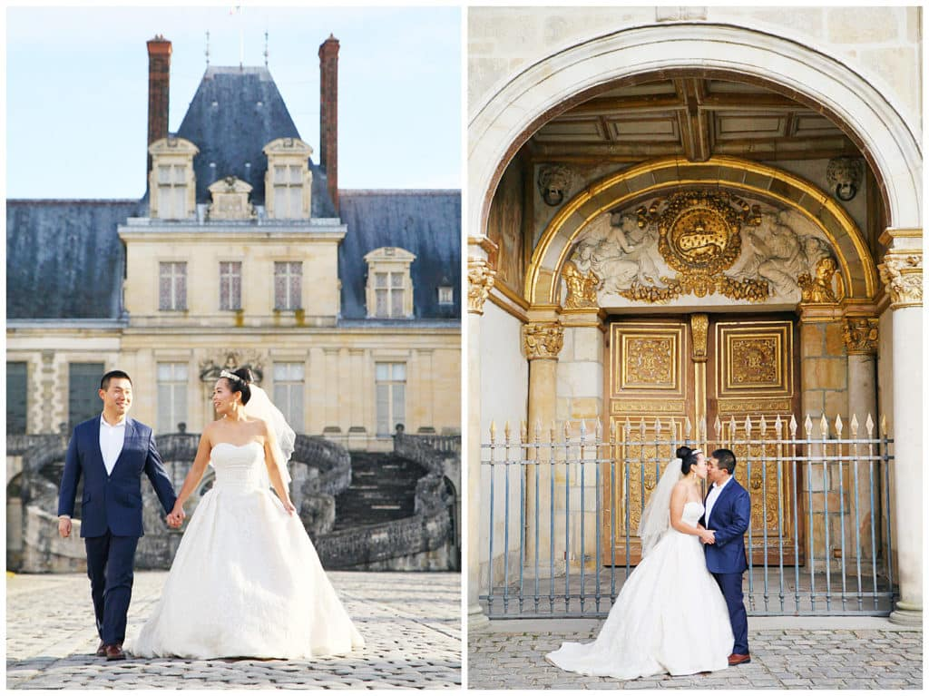 A pre-wedding photo session at Chateau de Fontainebleau