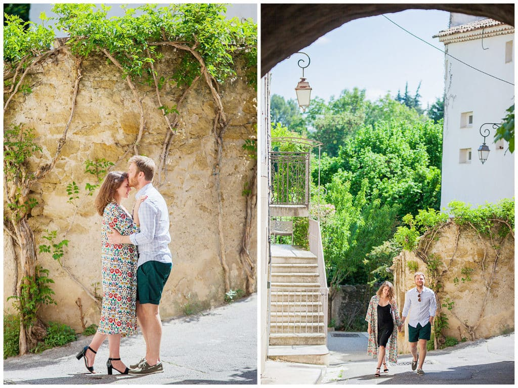 A sweet honeymoon photo session in the heart of Luberon, Provence