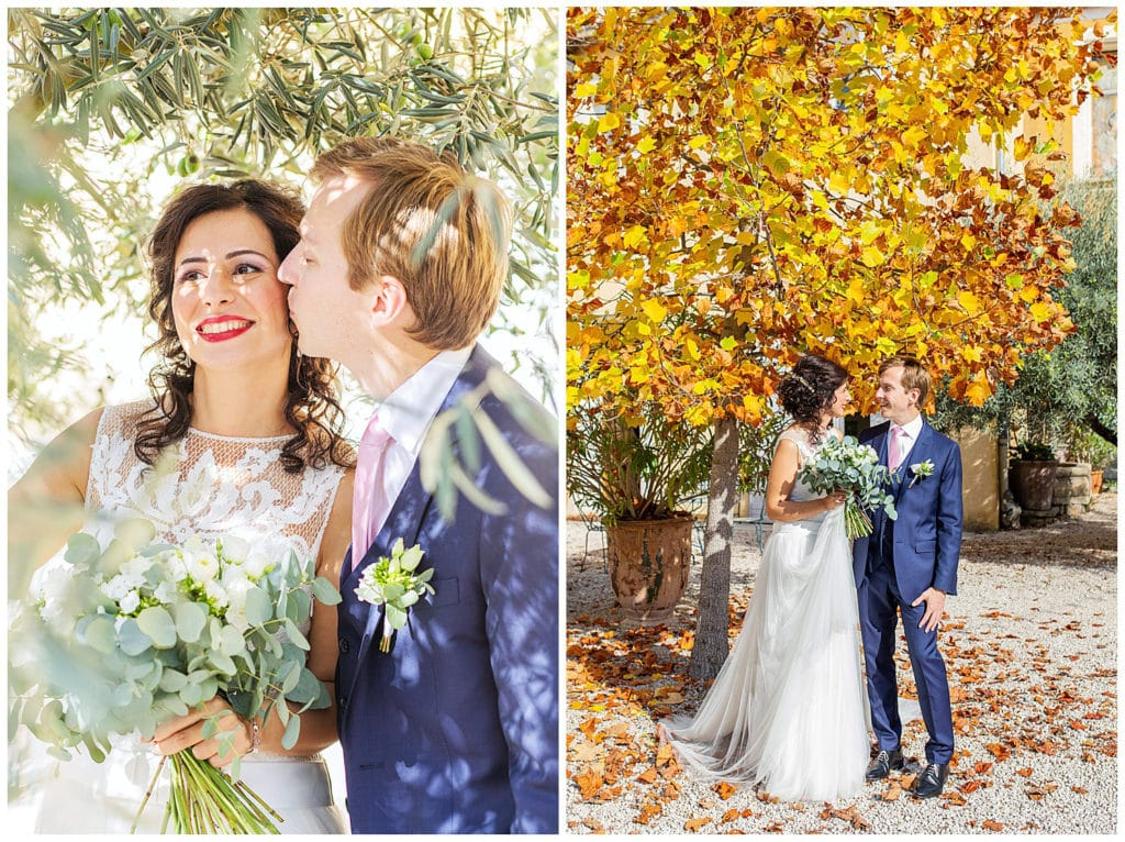 Provence fall wedding at Domaine de Blanche Fleur