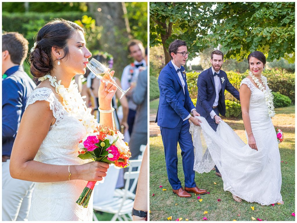 An Hawaiian wedding in Provence at Chateau La Tour Vaucros, in Sorgues near Avignon