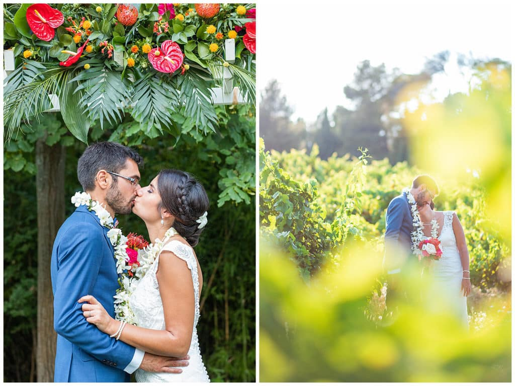 An Hawaiian wedding in Provence at Chateau La Tour Vaucros