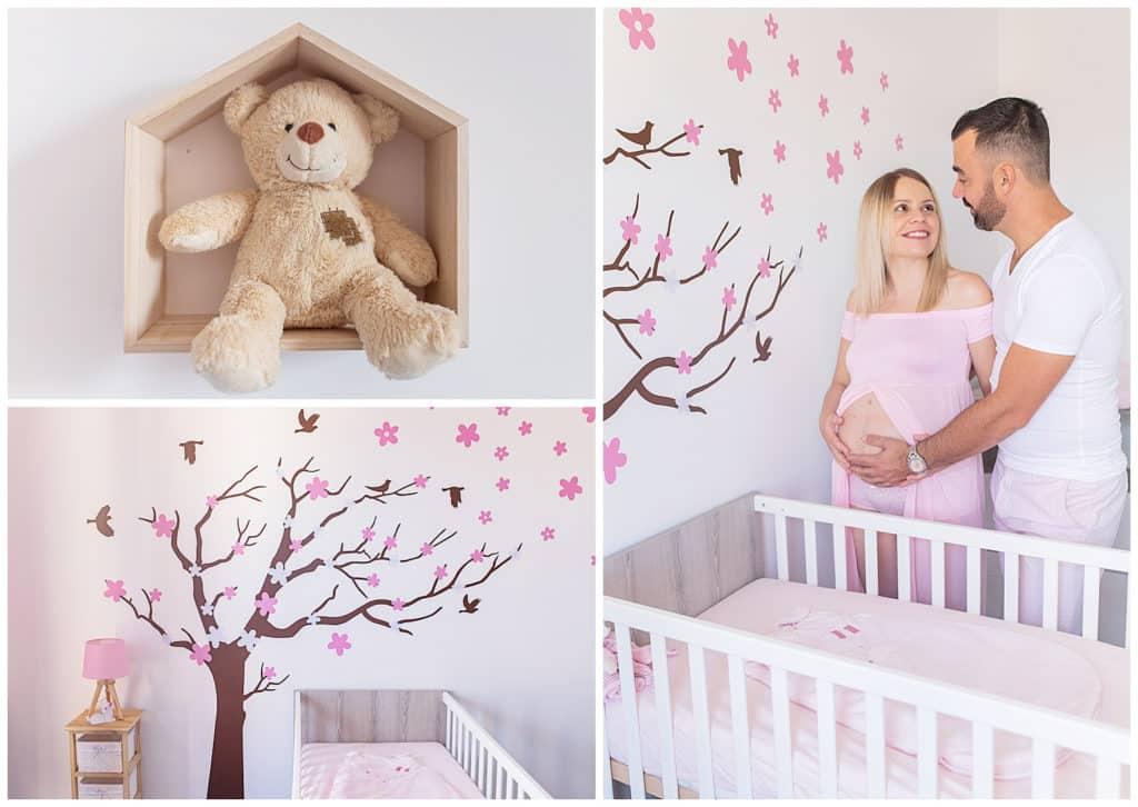 Une adorable séance photo de grossesse à la maison en Provence
