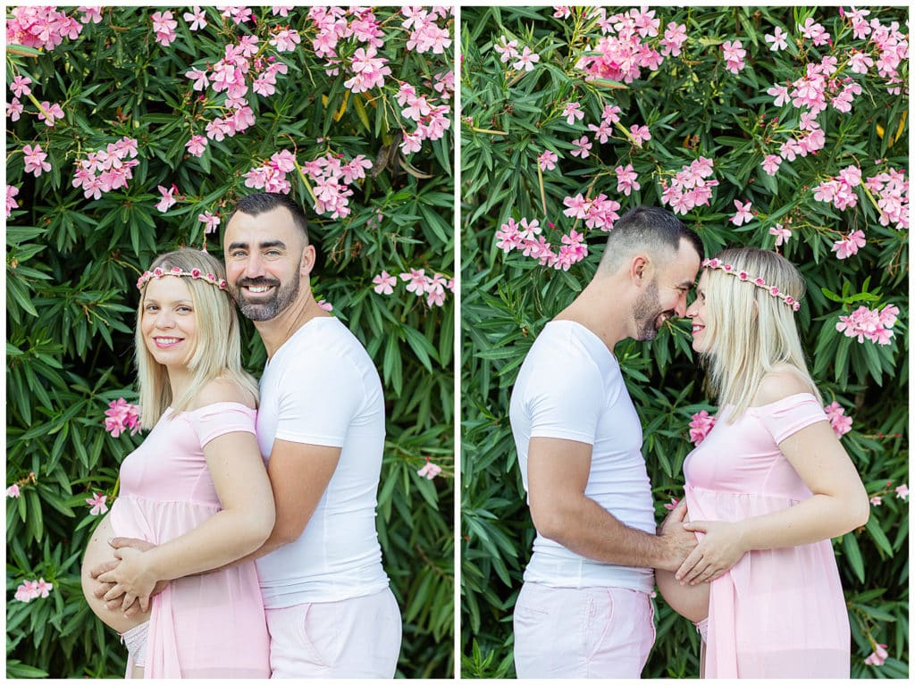 A sweet maternity photo session in the heart of Provence
