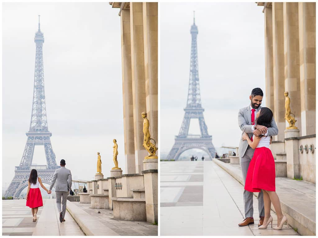 A surprise proposal at Disneyland Paris and engagement session in Paris
