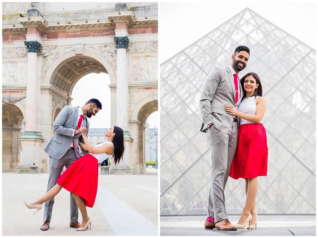 Une demande en mariage à Disneyland et une séance photo engagement dans Paris