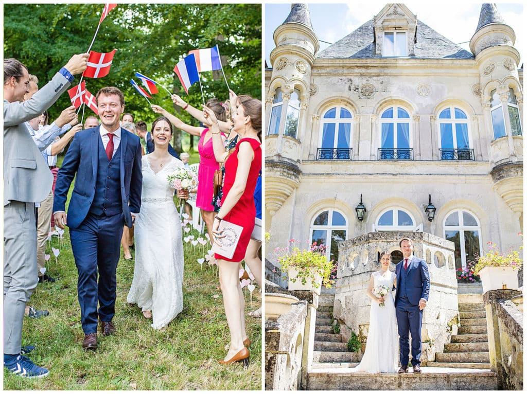 A French-Danish wedding in a castle of the Loire Valley