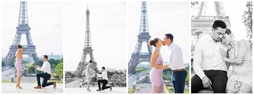 Surprise proposal in Paris, France