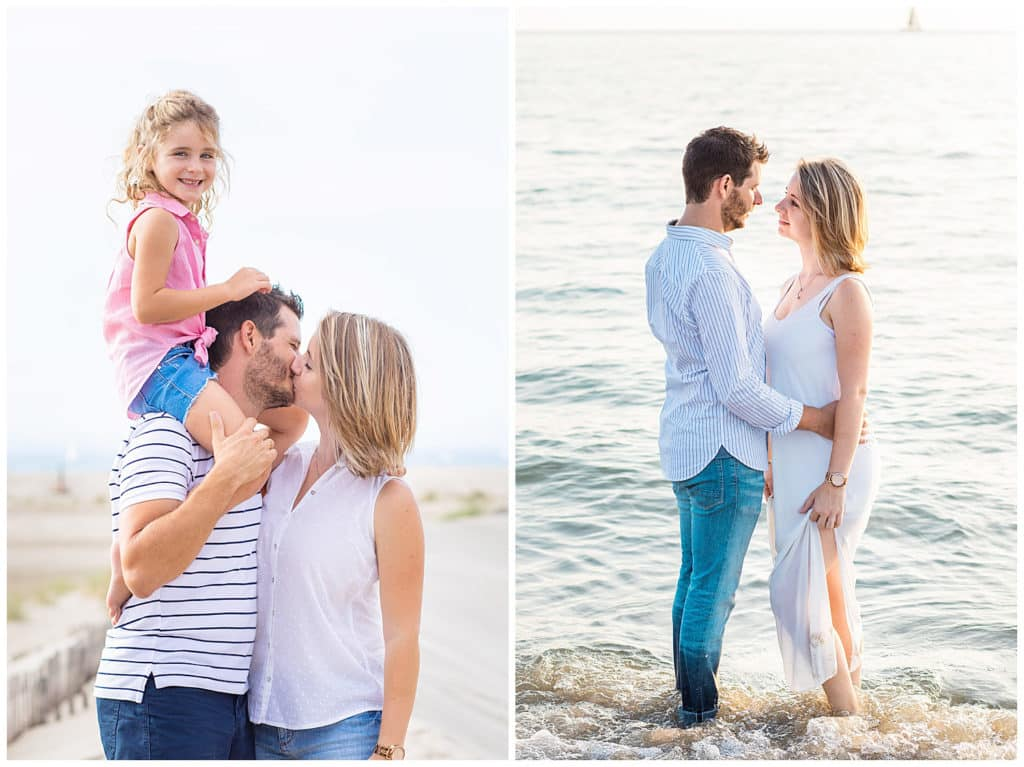Une séance photo engagement et famille sur la plage de l'Espiguette au Grau-du-Roi en Camargue