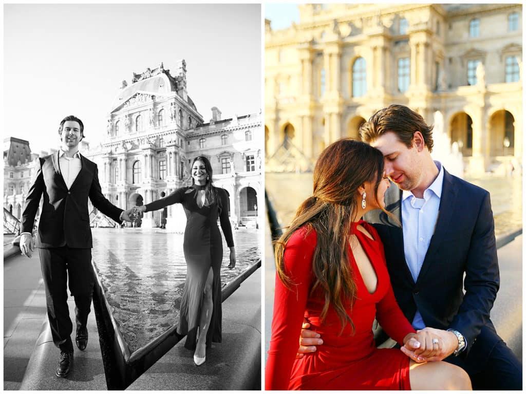 Une demande en mariage féérique devant la Tour Eiffel à Paris
