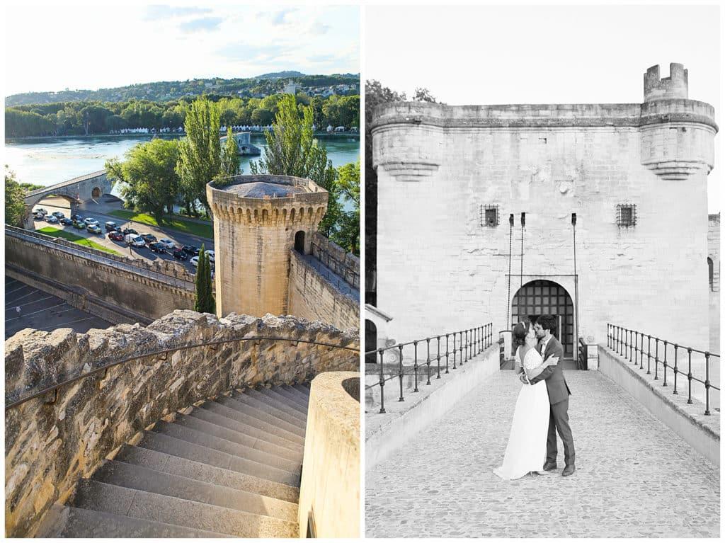 Photos de mariage sur le Pont d'Avignon Vaucluse
