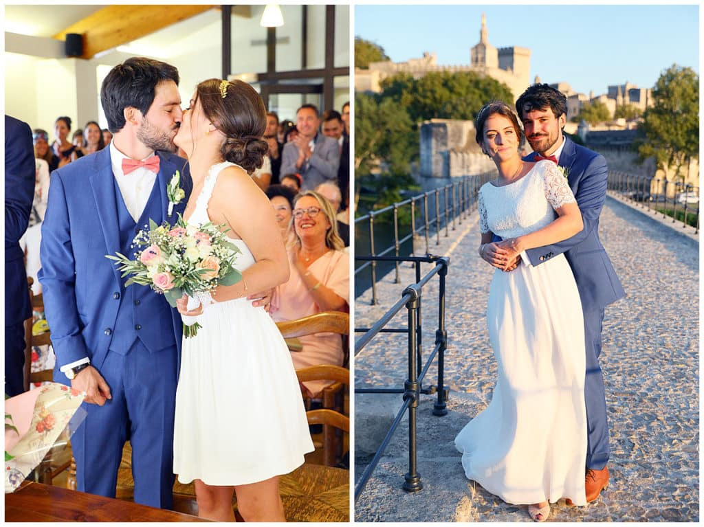 A wedding in a Provence village and on the Pont d'Avignon