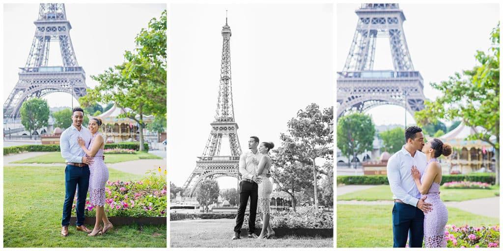 Une magnifique demande en mariage devant la Tour Eiffel à Paris