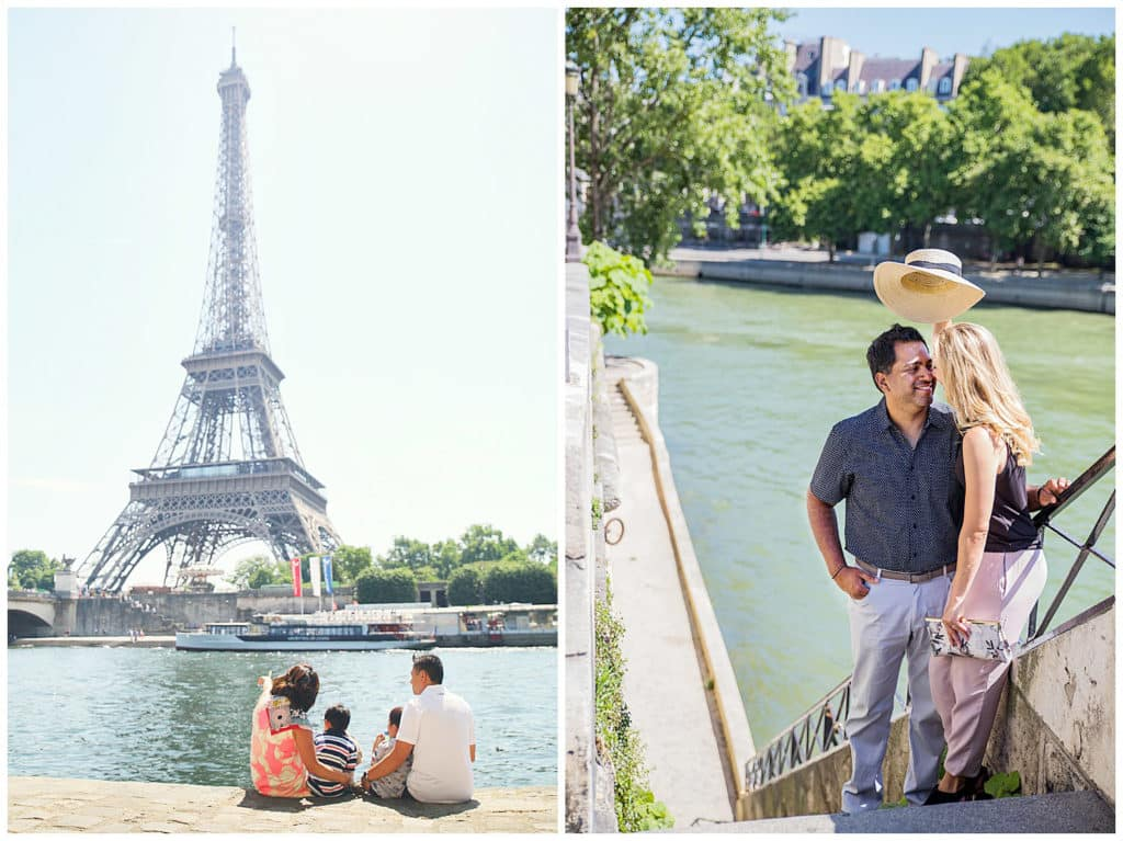 Locations for a Paris photo session: Seine River