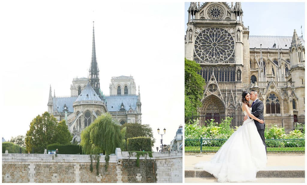 Locations for a Paris photo session: Notre Dame Cathedral