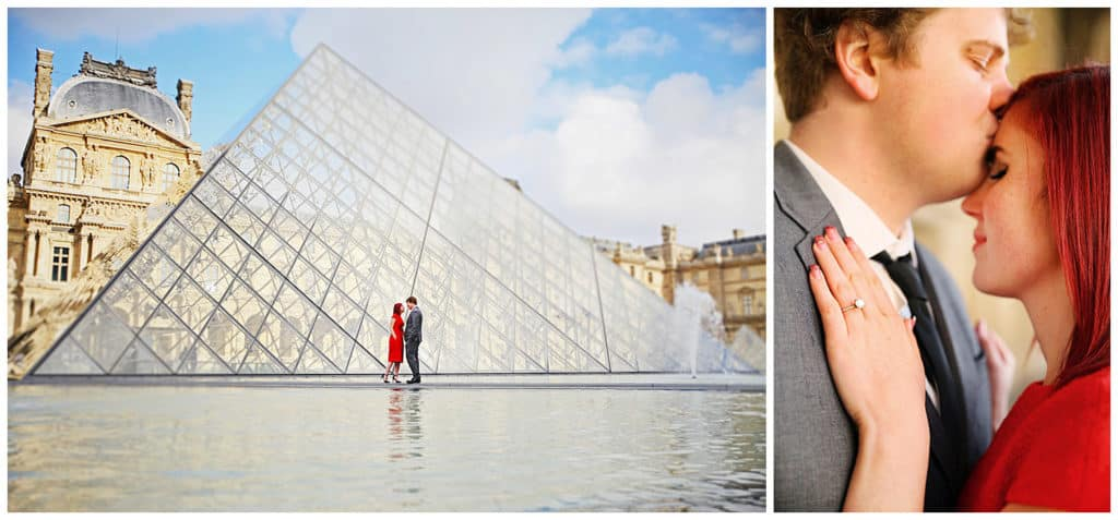 Locations for a Paris photo session: Louvre Museum and pyramid