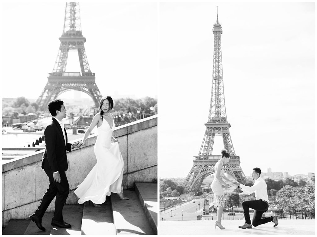 Locations for a Paris photo session: Eiffel Tower