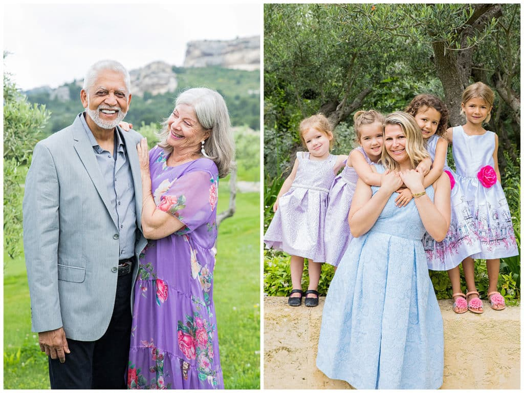 A family photo session at Domaine de Manville in Les-Baux-de-Provence
