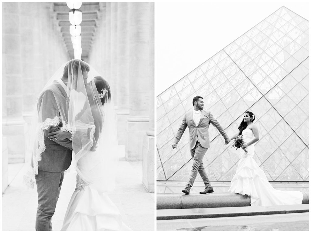 A gorgeous bride & groom winter portrait session in Paris