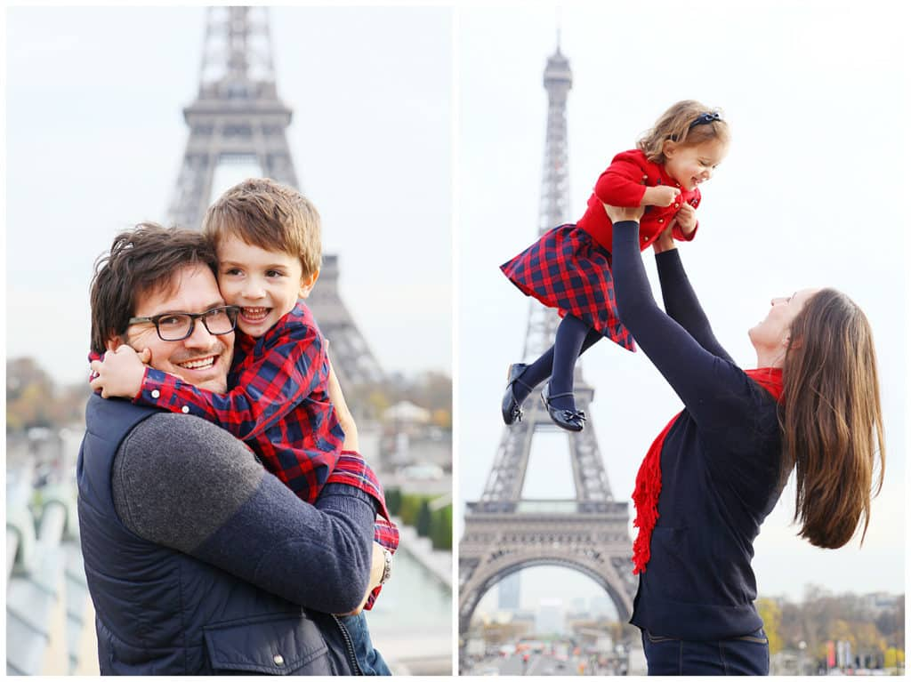 An adorable family photo session around Paris – Eiffel Tower, Montmartre and the Louvre