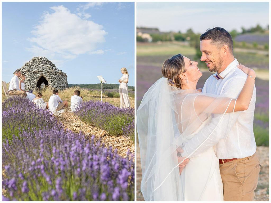 Mariage intime et renouvellement de vœux en Provence